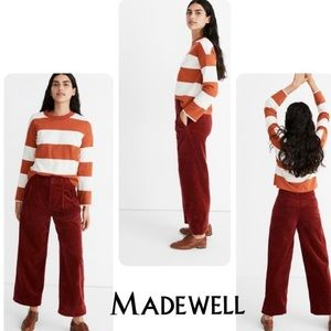 Madewell Pleated Wide Leg Full Length in Corduroy